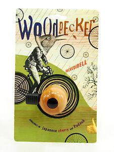 MIRRYCLE-Incredibell-Woodpecker-Cherry-Wood-Bicycle-Mini-Bell