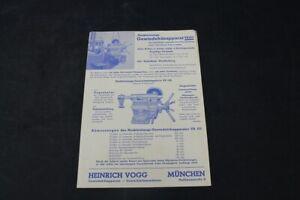 Age Print Heinrich Fogg Gewindefräsapparat Advertising Collector