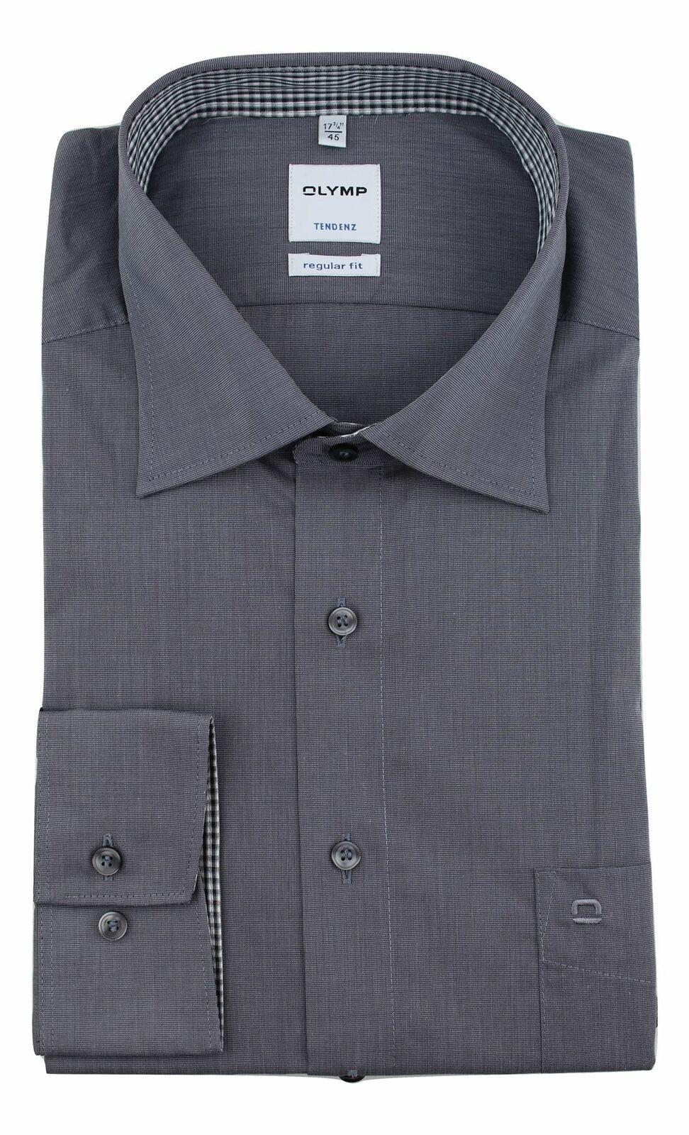 Grey Textured Spread Collar