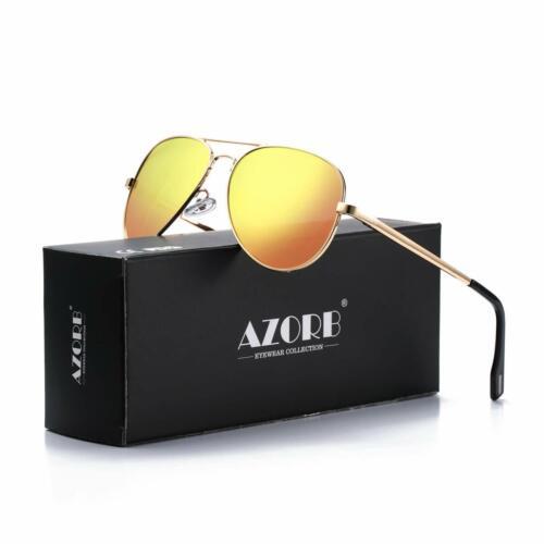 Lunettes de soleil style aviateur miroir cadre en métal Lentille Hommes /& Femmes 100/% Protection UV