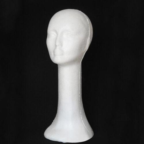 FOAM FEMALE HEAD LONG NECK MANNEQUIN WIG HAT GLASSES DISPLAY STAND MODEL Boom