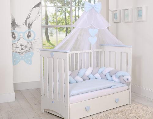 blau für Kinderbett Moskitonetz aus Chiffon Farbe weiss