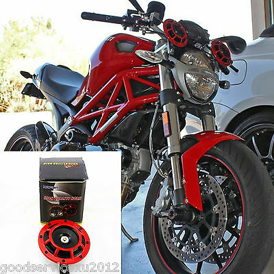 Two Super Loud Compact Electric Blast Tone Horn Modify For BMW Yamaha motorbike