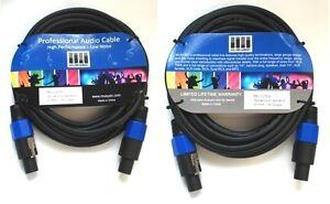 Pair-2-pcs-50-feet-long-Speakon-Speakon-14-Gauge-Speaker-Audio-Cable-MUSYSIC