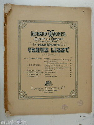 piano solo WAGNER - LISZT hollaender - spinnerlied , 12 pages