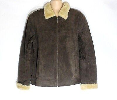 Bello Men's Vintage C&a Bomber Cowboy Western Marrone 100% In Pelle Giacca Cappotto Taglia L-mostra Il Titolo Originale Qualità E Quantità Assicurate