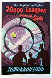 XL HiQ Facsimile 20,000 Leagues Under the Sea 1955 Disneyland Poster~36 x 24 SF
