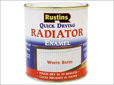 Rustins-Quick Dry RADIATORE SMALTO VERNICE Satinato Bianco 500ml