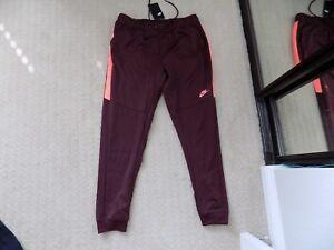 811e345e66b9 NEW MENS L XL NIKE TRIBUTE PANTS JOGGERS SLIM TRACK RED MAROON ...