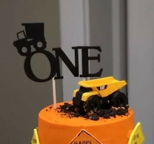 Sensational Dump Truck One Cake Topper Black Glitter 1St Birthday Ebay Funny Birthday Cards Online Elaedamsfinfo