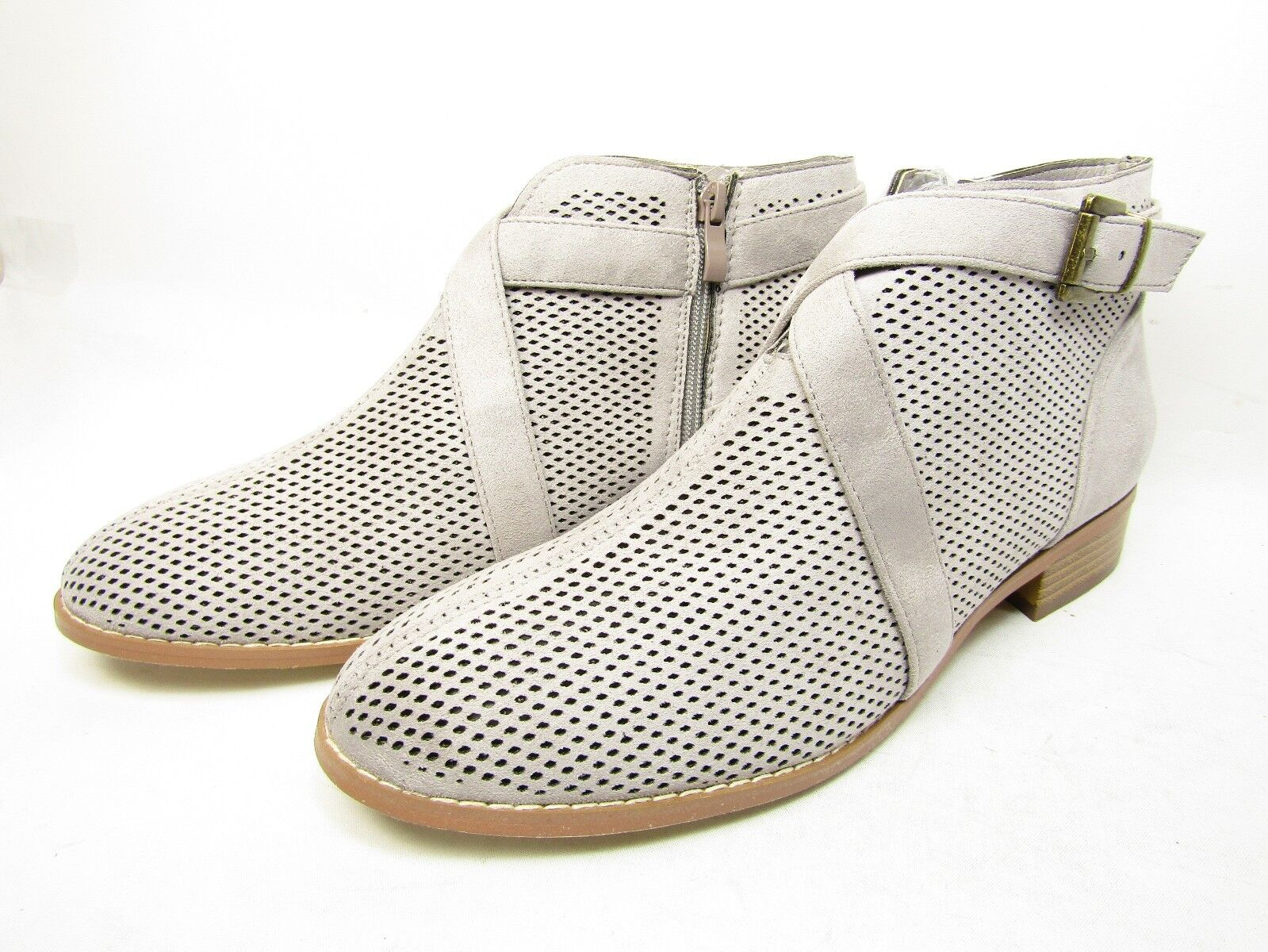 Journee Collection Reggi   Round Toe Synthetic  Bootie Grey Size 12
