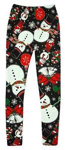 72a784d1fc3bc9 Girls Baby Toddler Santa Snowman Holly Xmas Leggings 3 to 24 Months ...