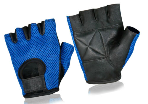 Weight Lifting Fitness Leather Padded Cycling Mesh Cloth Gloves Gym Wheel Chair