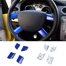 FIT FOR FORD FOCUS MK2 4 SPOKE STEERING WHEEL INSERT TRIM COVER BADGE CAP S-MAX