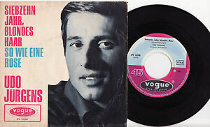 UDO-JURGENS-Siebzehn-Jahr-Blondes-Haar-Very-rare-1965-german-POP-P-S-Single