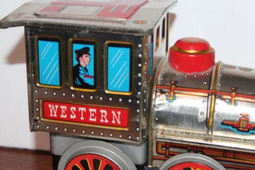 Blechspielzeug Schön Modern Spielsachen Batteriebetrieben Mystery Aktion Western Lokomotive