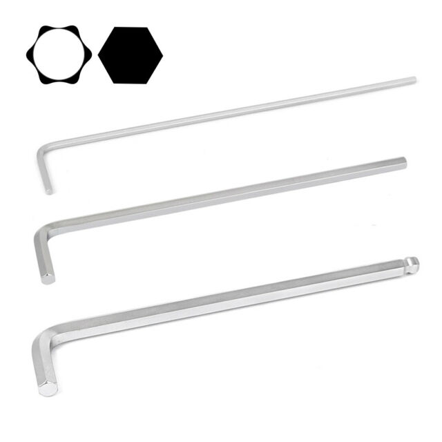 New Extra Long L Shaped Hex Hexagon Key Wrench Home hot Tool Repairing s W5M4