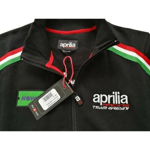 Up A1fefz18rem Black Gresini Zip Sweatshirt Team Aprilia Official 2018 ZawRfqTUq