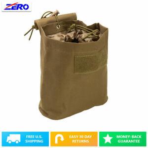Tan-Folding-Magazine-Utility-PVC-Magazine-Drop-Dump-Pouch-MOLLE-Gear-Compact