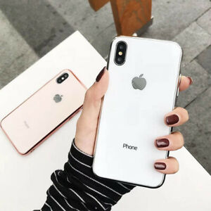 Slim-Back-Cover-Anti-drop-Plating-Mirror-Original-Case-for-IPhone-Cover-7-8-X-XS