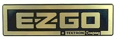 E Z GO GOLF CART PART TXT NAME PLATE BLACK/GOLD