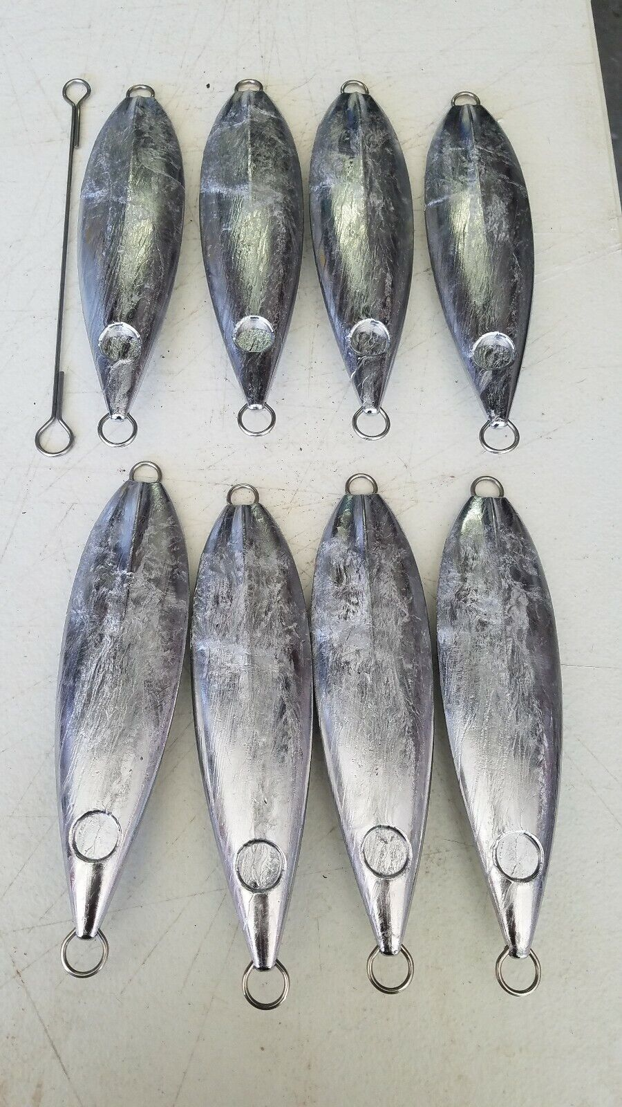 500 gram flat fall slow pitch jigging  blanks 8ct blueefin tuna  various sizes