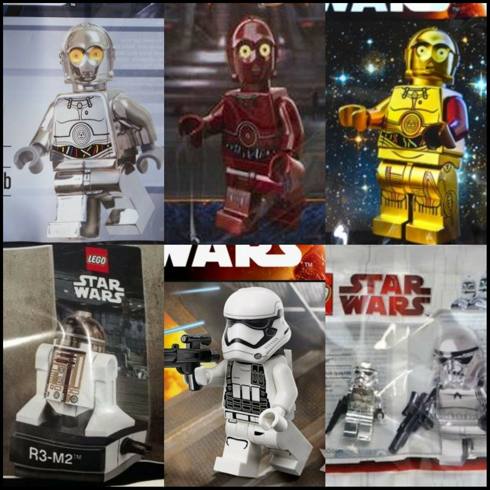 LEGO STAR WARS Lot Of x21 x21 x21 New Mint Factory Sealed Polybags Exclusive Promo Ann. 033a45