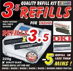 3-BLACK-TONER-REFILL-KIT-Fits-OKI-OKIDATA-B4300n-B4350n