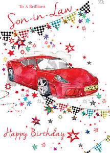 Image Is Loading FANTASTIC RED RACING CAR TO A BRILLIANT SON