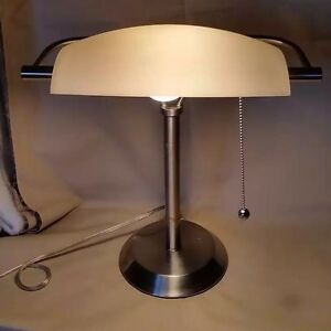 Bankers table lamp lawyers polished steel library student piano desk image is loading bankers table lamp lawyers polished steel library student mozeypictures Choice Image