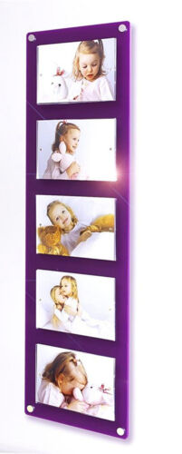 Picture photo frame 5x  7 x 5 / 5x7 multi magnetic Cheshire Acrylic baby wedding