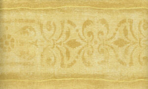 Image Is Loading GOLDEN YELLOW TEXTURED WALLPAPER BORDER