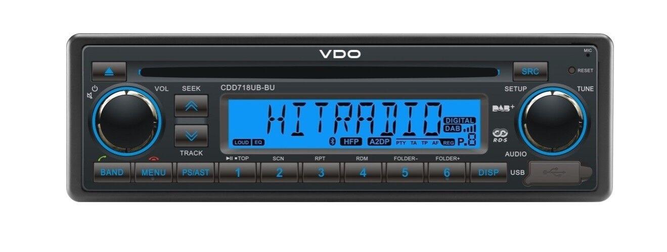 VDO CD RADIO USB MP3 MP3 MP3 WMA DAB DAB+ DMB BT 12V Stiefel CDD718UB-BU a27716
