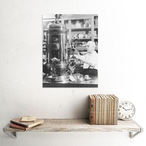 PHOTO BLACK WHITE ITALIAN AMERICAN CAFE ESPRESSO SHOP ART PRINT POSTER BB8991