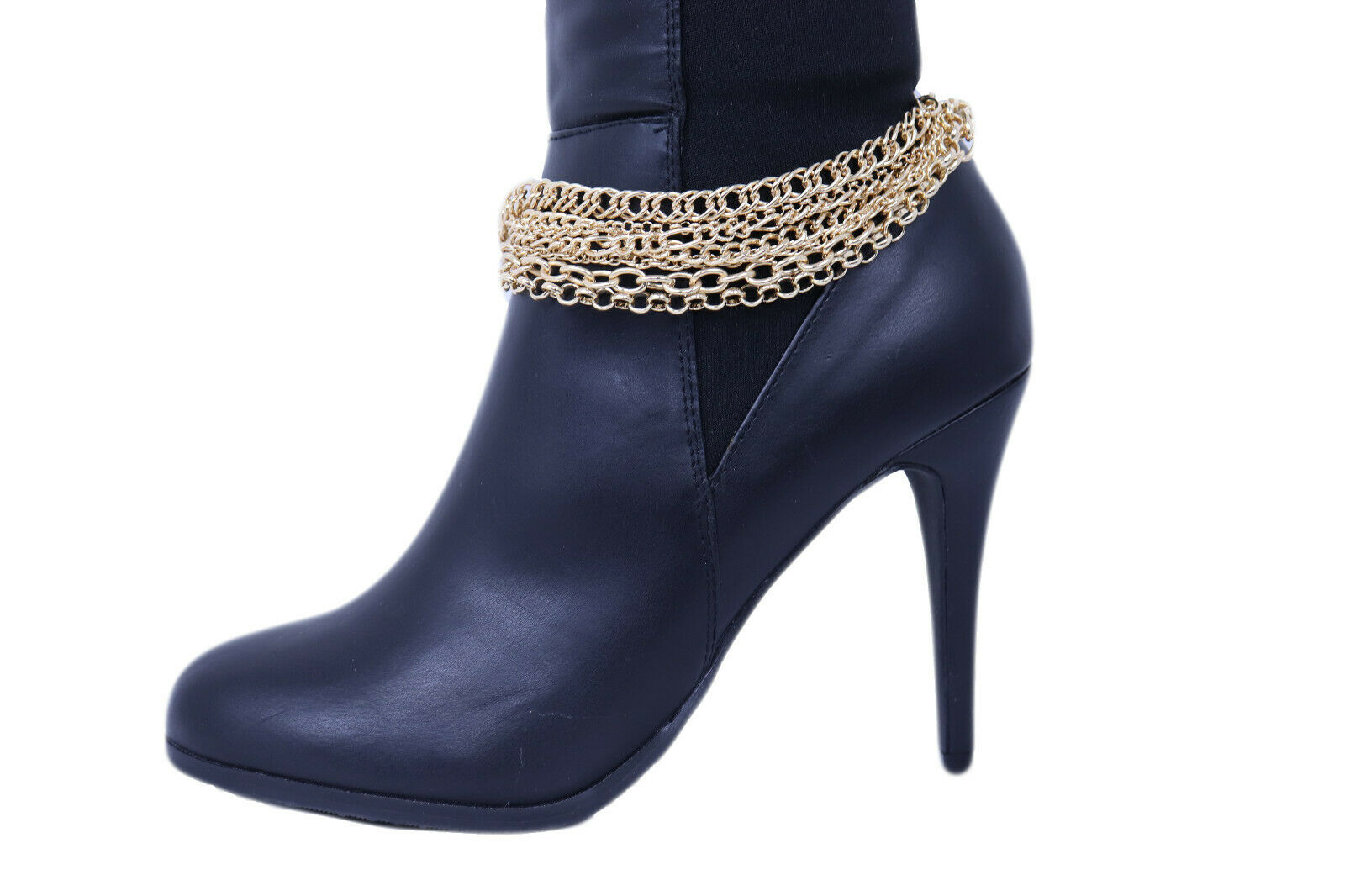 Hot Texas Western Women Gold Boot Chain Anklet Bracelet Shoe Rodeo Charm Jewelry