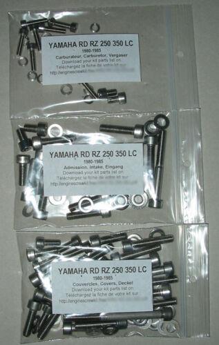 YAMAHA RD RZ 350 LC 1980-1995 moteur Inoxydable Allen Vis Kit #1 RD350 RD350LC