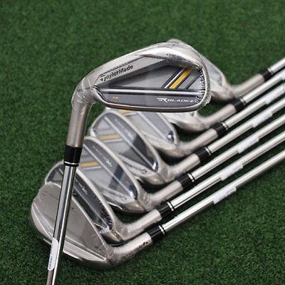 TaylorMade Golf RocketBladez HL Irons 5-PW - LEFT HAND - Steel Regular Flex NEW
