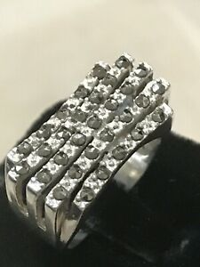 Vintage art deco antique sterling silver 925 marcasite\u2019s band ring size 5