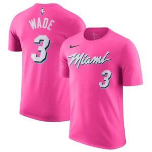 d86310af3fd4 Nike NBA 2018-2019 Miami Heat Dwyane Wade Earned Edition Dri-FIT ...