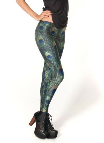 Woman leggings peacock feather Printed S-4XL slim legging 3090