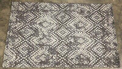 Pottery Barn Gray Zahara Synthetic 5x8 Rug Authentic Ebay