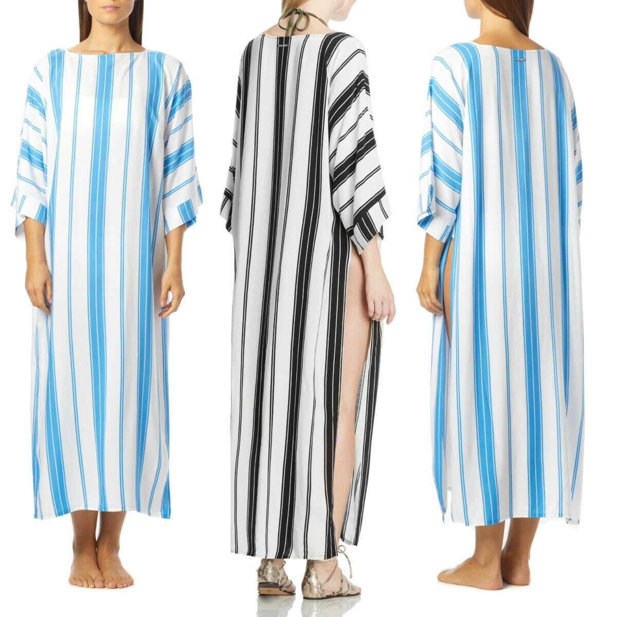 Vince Camuto Striped Caftan Cover-Up 531345-J