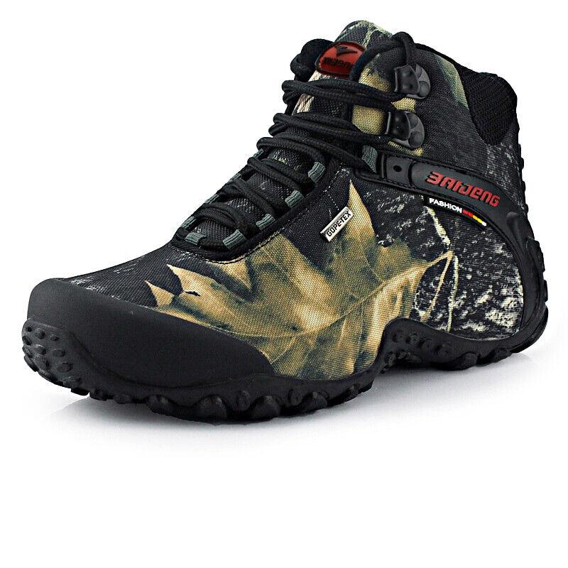 Zapatos De Senderismo Hombre Zapatos De Lona Impermeable Al Aire Libre Montañismo Antideslizante