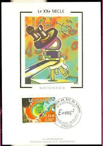 FRANCE-CARTE-MAXIMUM-XXe-SIECLE-LA-PENICILLINE-SCIENCES-2001-1er-JOUR-LOT-270