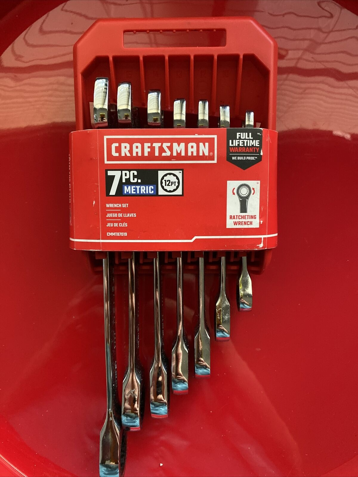 Craftsman CMMT87019 Wrench Set 7 Pc w// Racheting Wrench