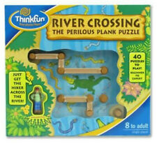 2003 ThinkFun River Crossing Perilous Plank 40 Puzzle Game Travel Bag Toy 8