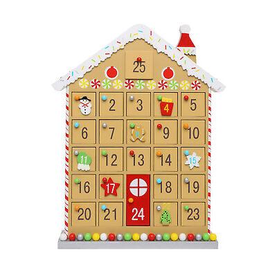 NEW Vue Jingle Bells Wooden Gingerbread House Advent Calendar