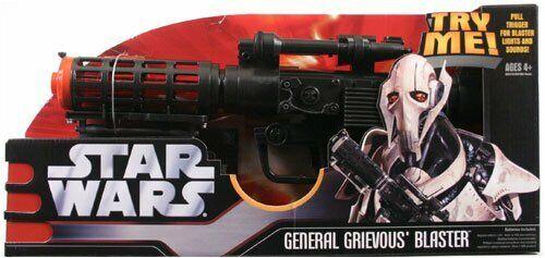 STAR Wars elettronico luci e suoni generale Grievous Blaster (negro) 85415