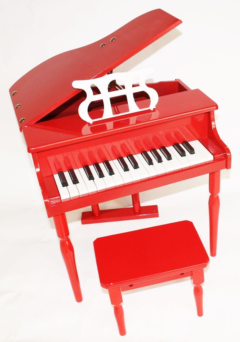 Kinder Klavier Piano Piano Piano Flügel Kinderklavier + Hocker in 4 Farben 4163d0