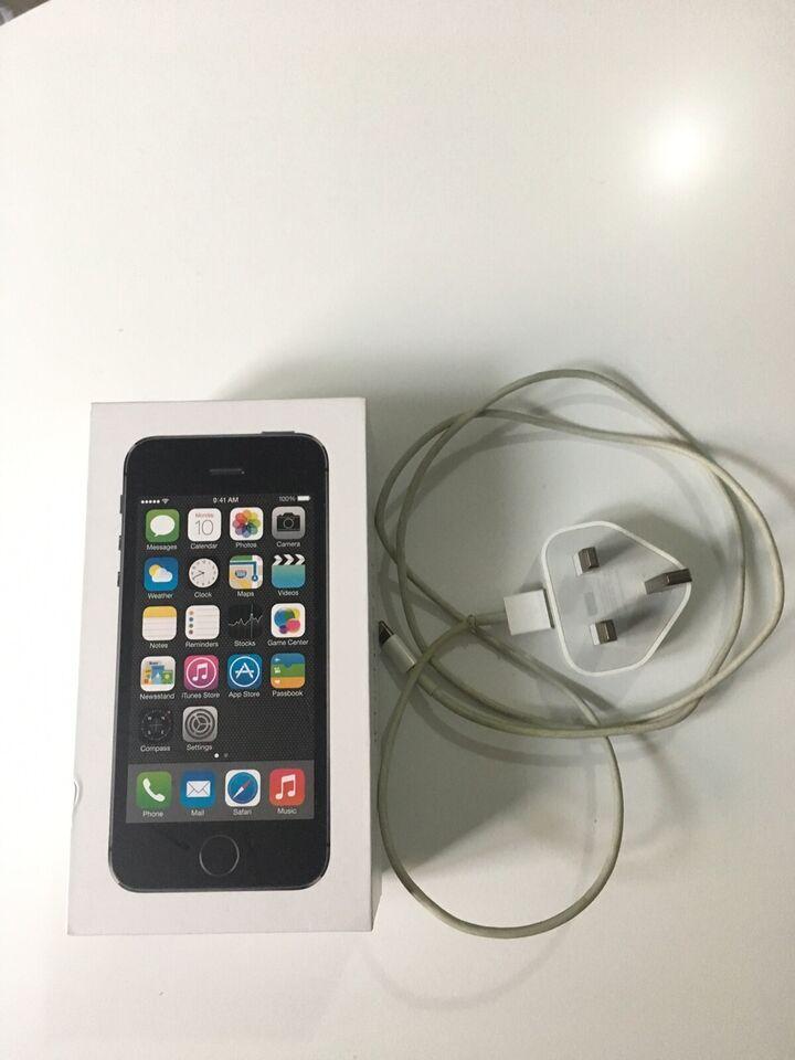 iPhone 5S, 32 GB, sort
